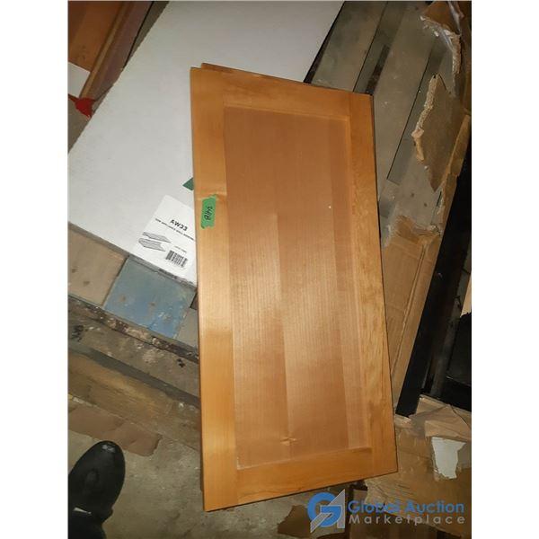 Assorted Unused Cabinet Doors & Shelves