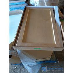 (2) Oak Kitchen Cabinets