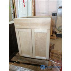 (3) Maple Kitchen Cabinets