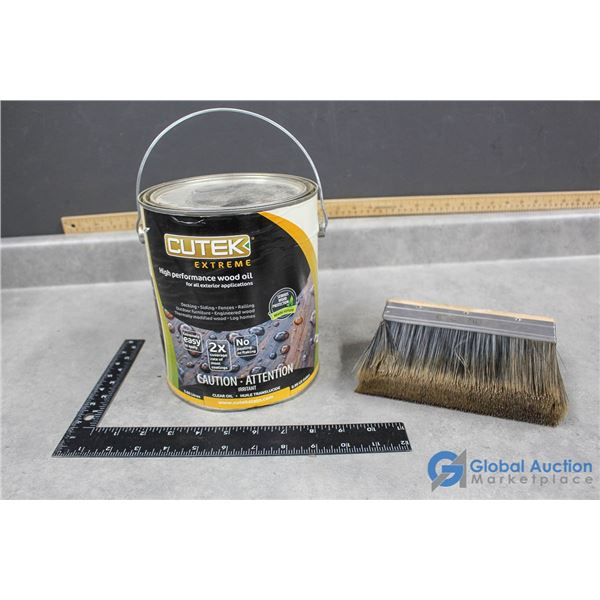 Clear Wood Oil 3.5L (full) and Deck Brush