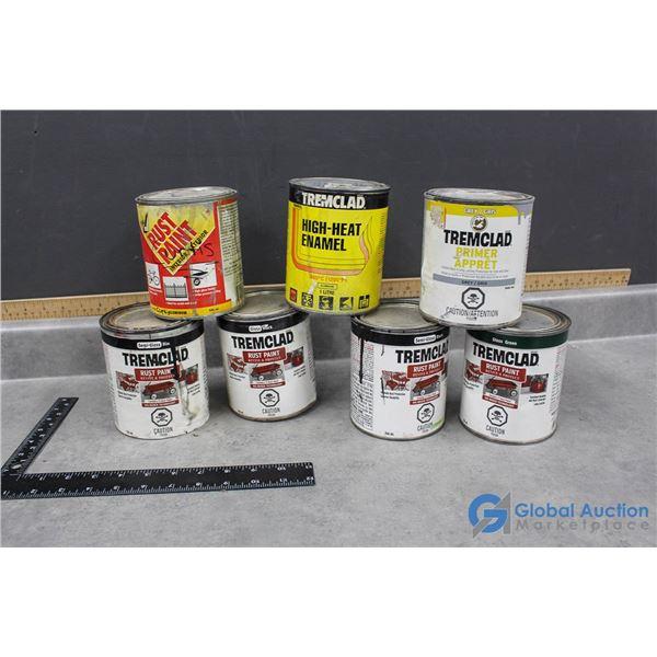 (7) 946ml Cans of Rust Paint, Primer, Enamel, etc