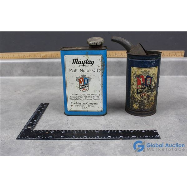 Fuel Mixing Can and Maytag Motor Oil