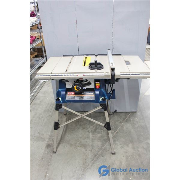 """**Ryobi 10"""" Lightweight Portable Table Saw w/Stand - Needs Power Switch Replaced"""