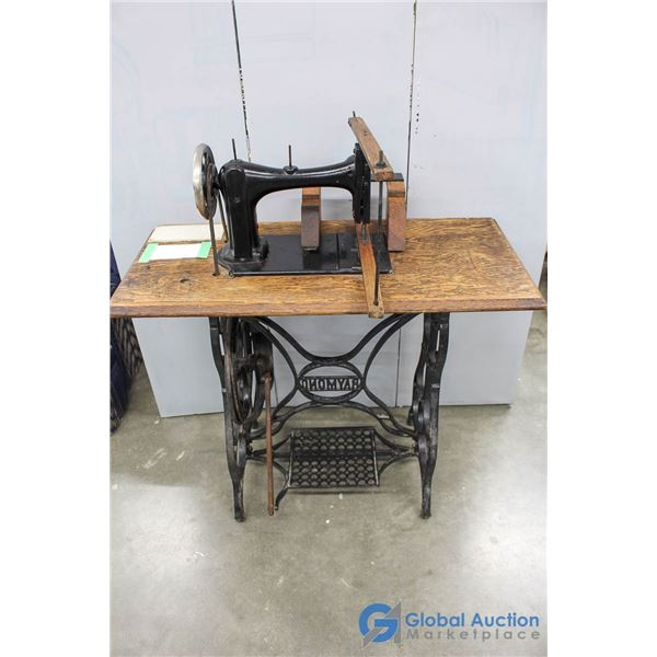 **Approx. Late 1800's Treadle Sewing Machine Converted to Fret Saw