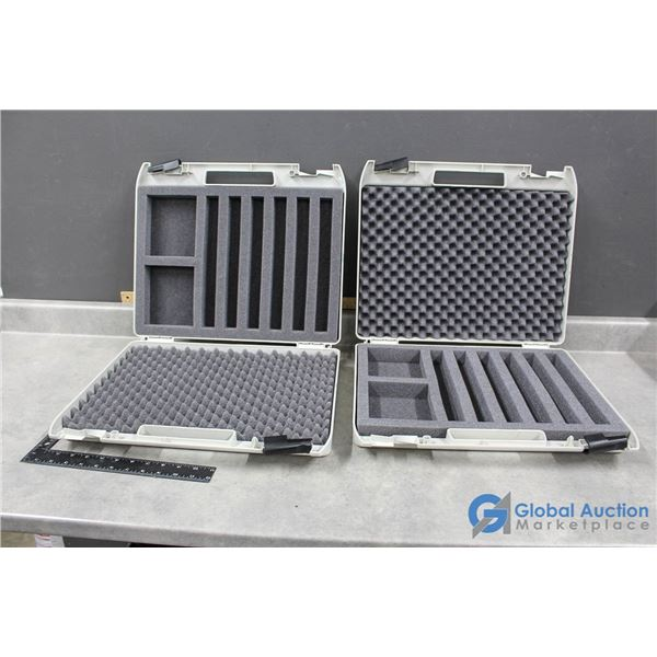 (2) Plastic Foam Lined Storage Cases