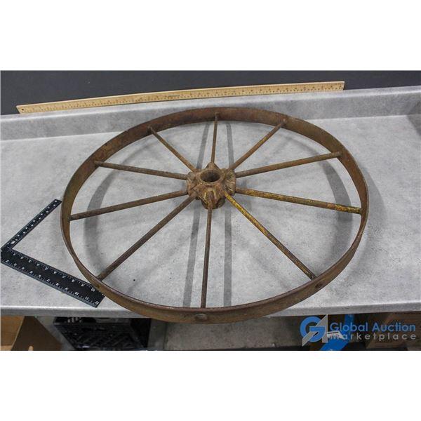 "**Vintage Steel Wheel - 26"""
