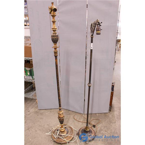 **(2) Vintage Floor Lamp