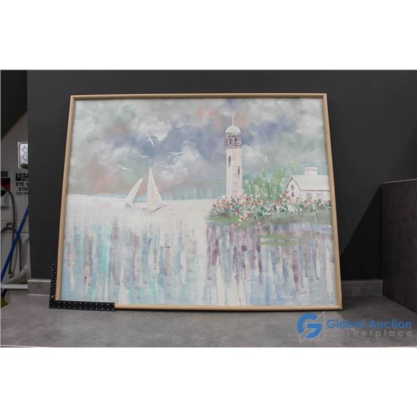 **Framed Canvas Painting
