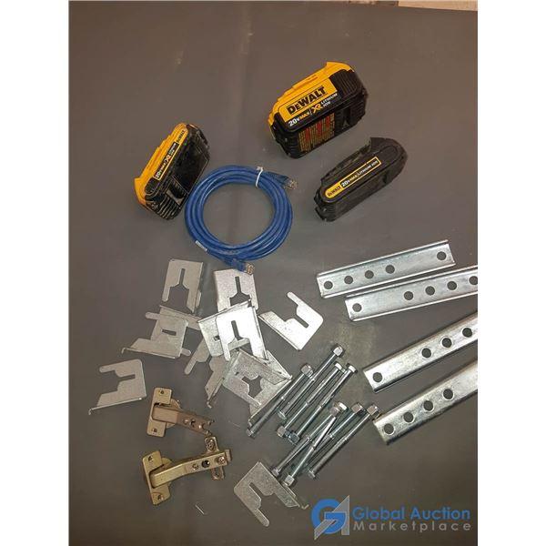 (3) DeWalt 20V Max Lithium Ion Batteries & Hardware