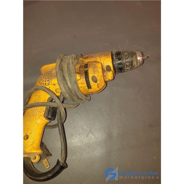 """DeWalt 3/8"""" Corded Drill - Works, Chuck Damaged"""