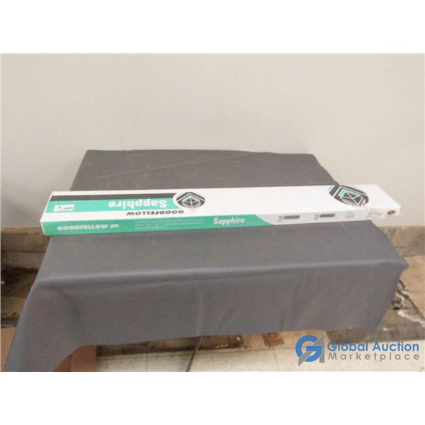 1 Unused Box of Goodfellow 4mm Click Lock Flooring (Gray/Brown wood grain look)