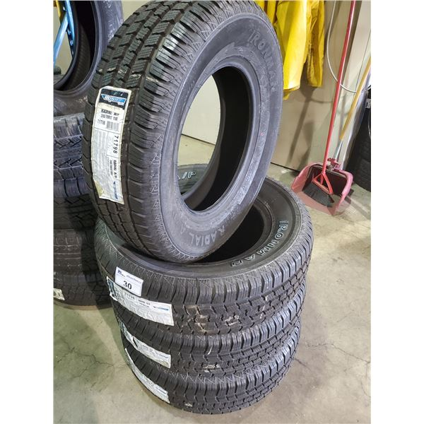 SET OF 4 IRONMAN RADIAL A/P 245/70 R 17 110T M+S ALL SEASON PERFORMANCE VEHICLE TIRES