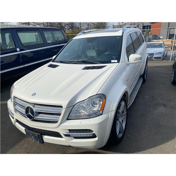 2012 MERCEDES GL350 BLUTEC, 4DR SUV 7PASS, WHITE, VIN # 4JGBF2FE9CA784274