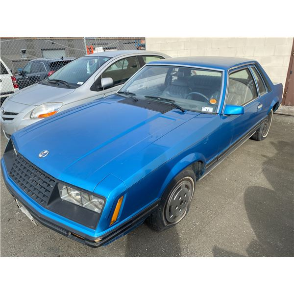 1979 FORD MUSTANG, 2DR COUPE, BLUE, VIN # 9R02Z176518