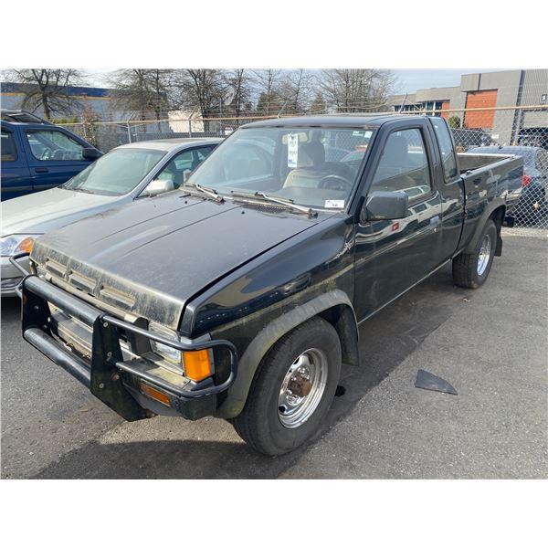 1987 NISSAN PICKUP, 2DR EXT CAB PU, BLACK, VIN # JN6HD16Y3HW000588