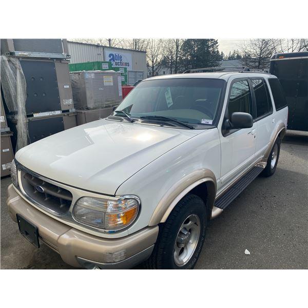 1999 FORD EXPLORER EDDIE BAUER EDITION, 4DR SUV, WHITE, VIN # 1FMZU34E6XZA31287