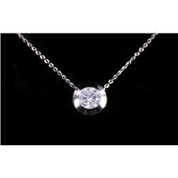 Mid-Century Diamond & 14K Gold Pendant Necklace