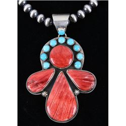 Navajo Yazzie Kingman & Spiny Oyster Necklace