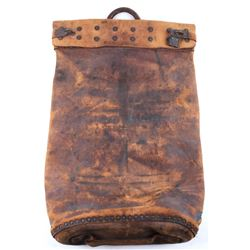 Wells Fargo Riveted Leather Stagecoach Bag