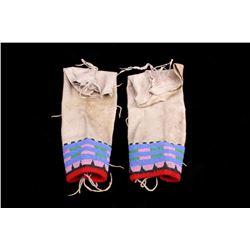 Sioux Beaded Hide Leggings c. 1890