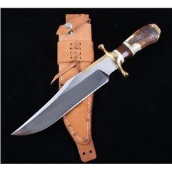 R. H. R. Grand Stag Horn Custom Bowie Knife