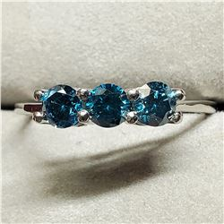 PLATINUM BLUE DIAMOND(0.56CT) RING SIZE 7