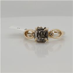 10K NATURAL UNIQUE DIAMOND(1CT) TWO DIAMONDS(0.02CT) RING SIZE 7