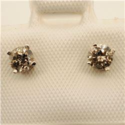 14K TWO DIAMONDS(0.4CT) EARRINGS