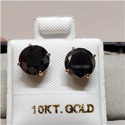 10K BLACK DIAMOND (TREATED)(3.8CT) EARRINGS
