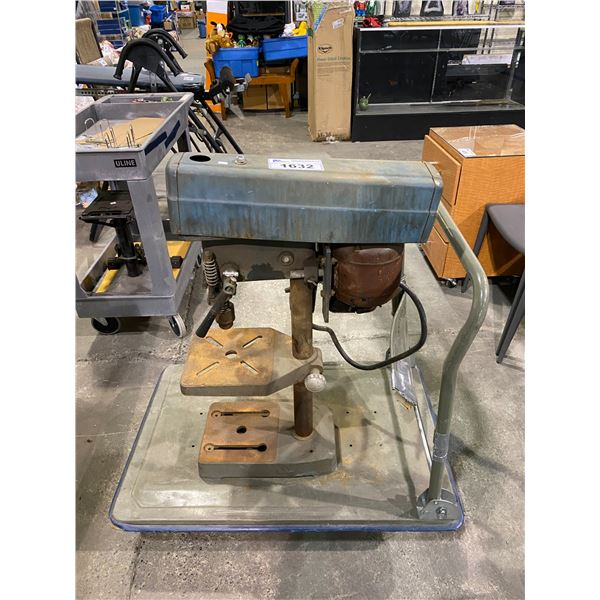 POWER TOOLS ZENITH MARSHALL WELLS DRILL PRESS& ROLLING CART