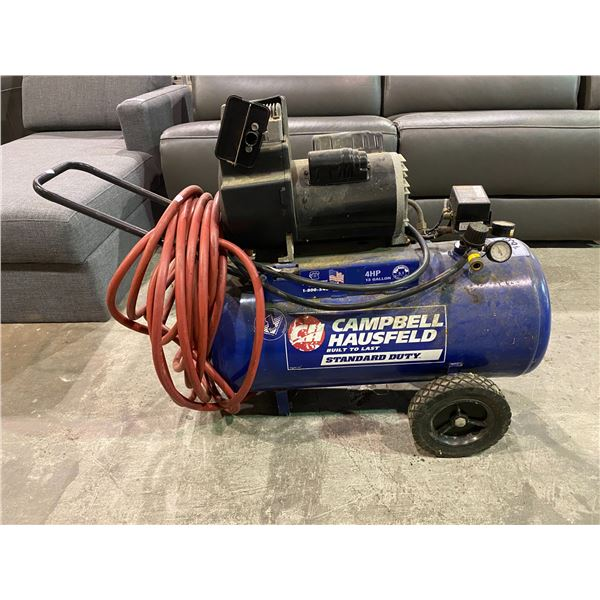 CAMPBELL HAUSFELD 4HP 13 GALLON 125MAX PSI AIR COMPRESSOR