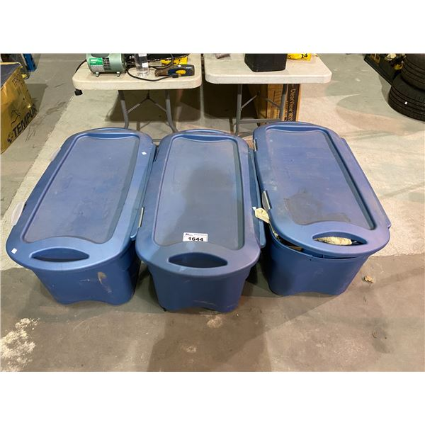 3 ROLLING TOTES FILLED WITH CONTENTS