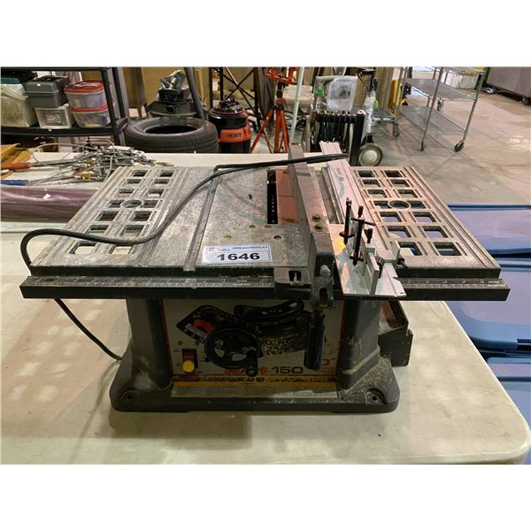 "SEARS 150 10"" ELECTRIC TABLE SAW"