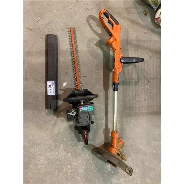 """CRAFTSMAN BUSHWICK GAS HEDGE TRIMMER 22"""" 21CC & BLACK AND DECKER ELECTRIC WEED EATER"""