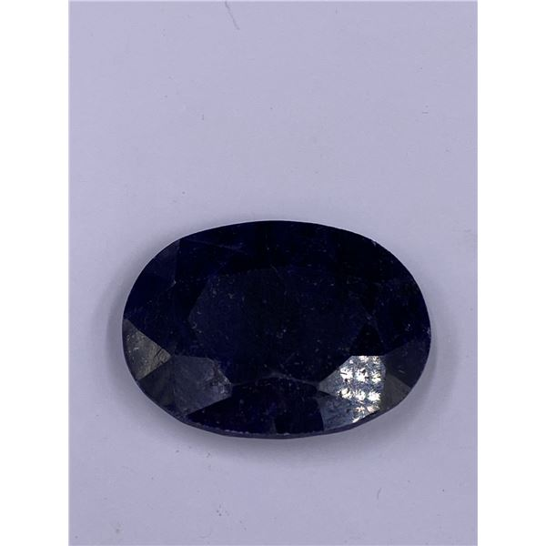 QUALITY ROUGH MINERAL POLISHED SAPPHIRE 136.50CT - 27.30G, 41 X 31 X 10MM, MADAGASCAR