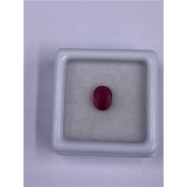 VALUABLE RED RUBY 1.56CT 7.2 X 6.5 X 4.0MM, RED COLOR, OVAL SHAPE, CLARITY VS, LUSTER STUNNING,