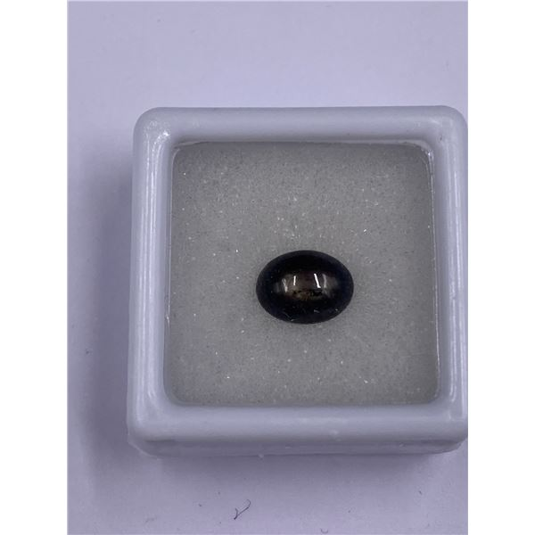 CABOCHON 6 RAYS BLACK STAR SAPPHIRE 2.80CT 9 X 7.00 X 4.7MM, COLOR BLACK, OVAL SHAPE, ORIGIN