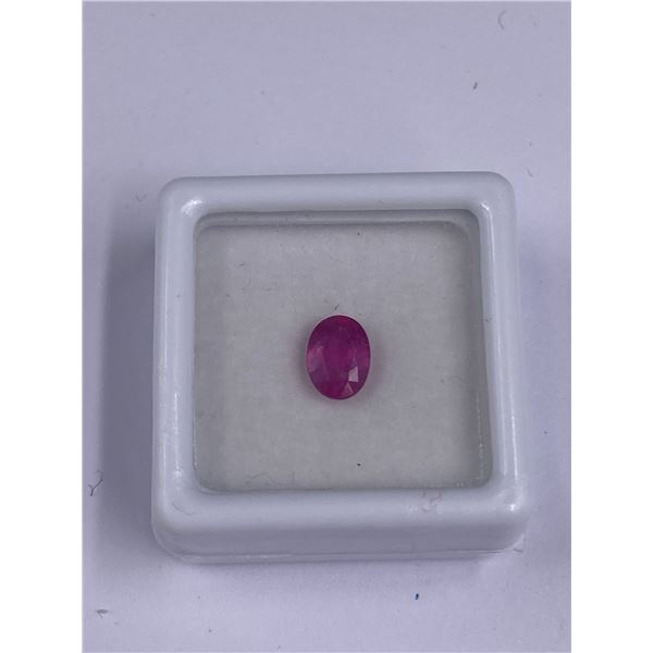 BEAUTIFUL PINK SAPPHIRE 1.30CT 6.88 X 4.49MM, COLOR VIVID PINK, OVAL SHAPE, CLARITY VSI, LUSTER