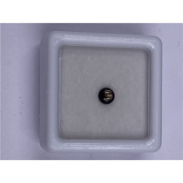 6 RAYS BLACK SAPPHIRE 0.45CT 4.3MM, ROUND CABOCHON SHAPE, CLARITY OPAQUE, LUSTER EXCEPTIONAL,