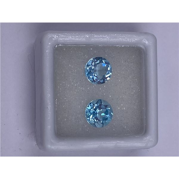 FULL FIRE BABY BLUE TOPAZ 3.20CT 7.00MM, COLOR BABY BLUE, BRILLIANT ROUND CUT, CLARITY EYE CLEAN,