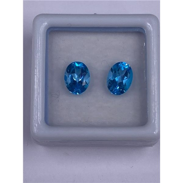BLUE TOPAZ 3.04CT 8.0 X 5.9 X 4.3MM, COLOR BLUE, OVAL SHAPE, CLARITY VSI, LUSTER EXCEPTIONAL,