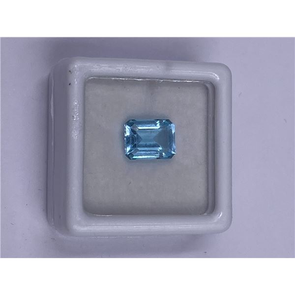 SUPERB BLUE TOPAZ 2.85CT 9.00 X 7.00MM, BABY BLUE COLOR, EMERALD CUT, CLARITY EYE CLEAN, LUSTER