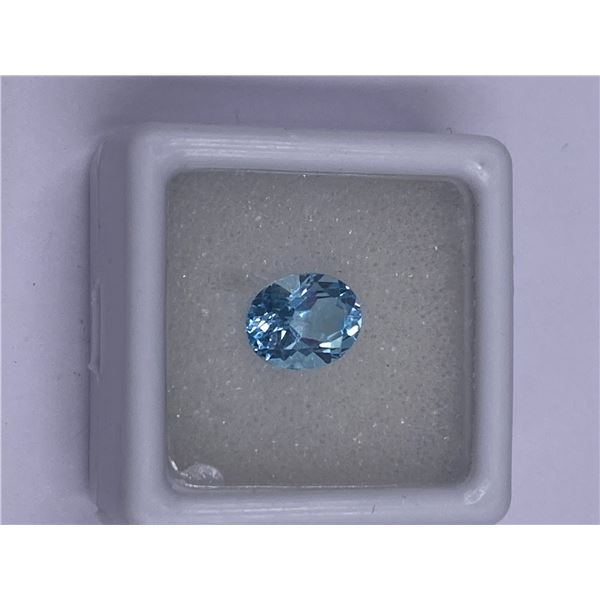 EXCEPTIONAL BLUE TOPAZ 2.40CT, 9.00 X 7.00MM, COLOR BABY BLUE, OVAL SHAPE, CLARITY EYE CLEAN,