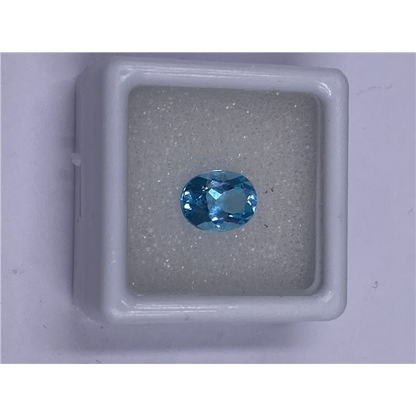 EXCEPTIONAL BLUE TOPAZ 2.20CT, 9.00 X 7.00MM, COLOR BABY BLUE, OVAL SHAPE, CLARITY EYE CLEAN,