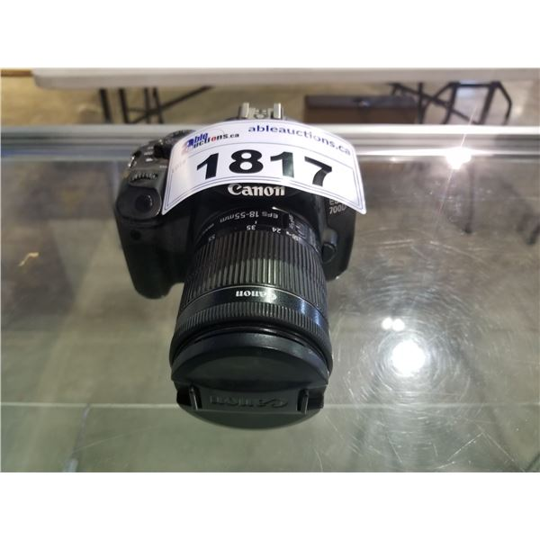 CANON EOS 700D CAMERA & LENS (NO CHARGER OR ACCESSORIES)