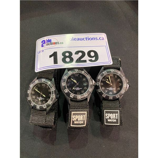 3 SPORT WATCHES 100FT WATER RESISTANCE