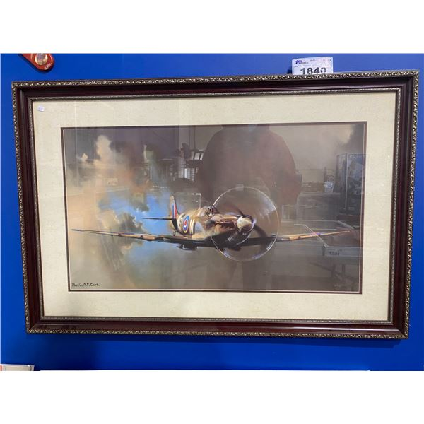 "FRAMED & SIGNED ""SPIT-FIRE"" BY BARRIE A.F. CLARK"