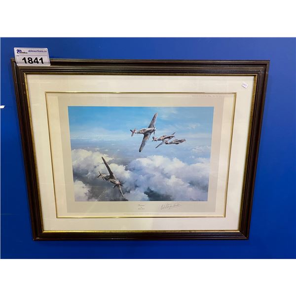 FIRST EDITION FRAMED & SIGNED BY WING COMMANDER R. R. STANDFORD-TUCK ART DONE & SIGNED BY ROBER