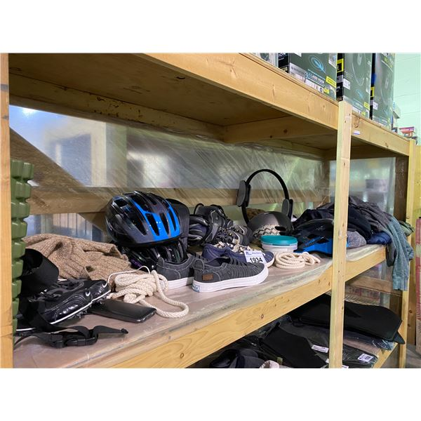 ASSORTED CLOTHES, SHOES, HELMETS, & MORE