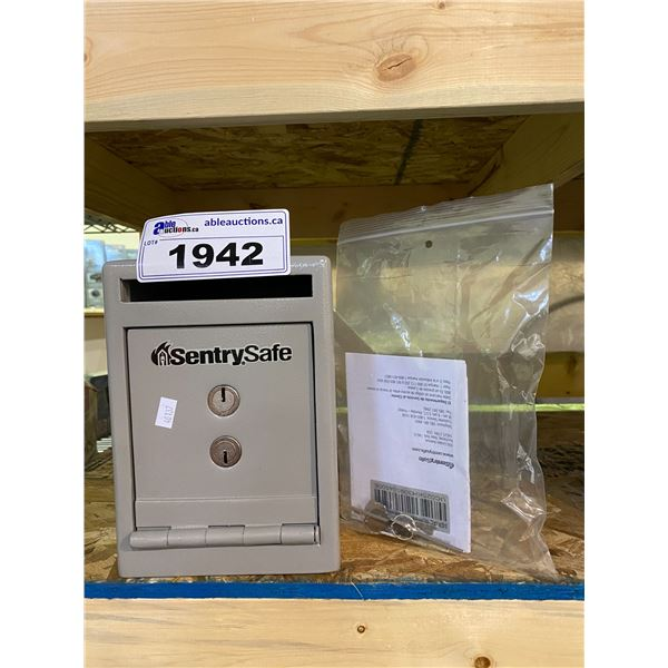 NEW SENTRY SAFE WITH KEY